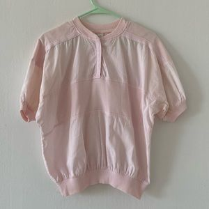 Vintage pink ribbed top